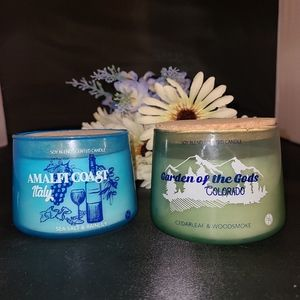 Brand New 3 Wick Travel Candles